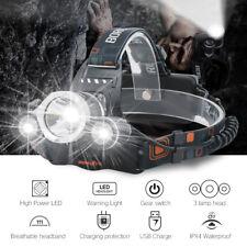 20000lm 3x XM-L T6 LED Kopflampe Stirnlampe Headlamp 18650 Fackel+EU Ladegerät