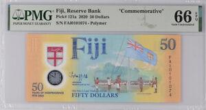 Fiji 50 Dollars ND 2020 P 121 COMM. Polymer GEM UNC PMG 66 EPQ