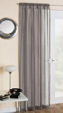 Tyrone Textiles Crystal Curtain Single Panel Grey 150cm W X 229cm L