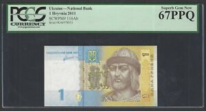 Ukraine One Hryven 2011 P116Ab Uncirculated Graded 67