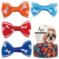 """Dog Puppy Grooming Bow - Aria - Canister of 48 Barrettes - Romeo - 1 1/4"""""""