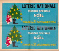 Loterie Nationale Christmas 1956 original French poster. NOT a repro!