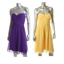 Ralph Lauren Harriett Purple - Yellow Chiffon Strapless Cocktail Prom Dress NEW