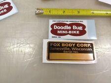 FOX Doodlebug mini bike decals decal sticker