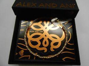 Alex and Ani Rocker Beaded Bangle Bracelet Rafaelian Gold NWTBC