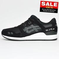 Asics Gel Lyte III OG Mens Retro Running Fashion Trainers Black