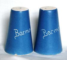 Vintage Devon Blue Blueware Salt & Pepper Pots - Barmouth