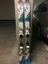 Nordica Hells Belle Women's Powder Skis All mountain 154 cm Atomic Bindings