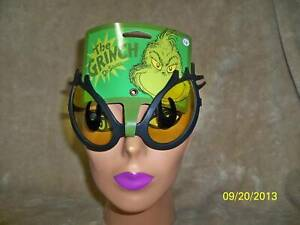 ADULT DR SEUSS THE GRINCH EYES GLASSES CHRISTMAS COSTUME ACCESSORY EL337400