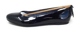 Dr. Scholls Womens Gossip Ballet Flat Shoe Faux Patent Black Size 8.5 M US