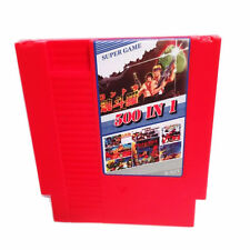 NES Game 500 in1 Classic Nintendo System Video Games Cart Cartridge -Tested Red