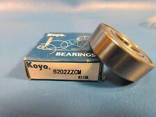 KOYO 6202 ZZ CM, 2Z, 2RZ,Deep Groove roller Bearing (=2 SKF, NSK FAG,  202KDD)