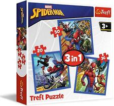 Trefl 3 in 1 Spiderman  Jigsaw Puzzle 20-36-50 Pieces 3+ Game Gift