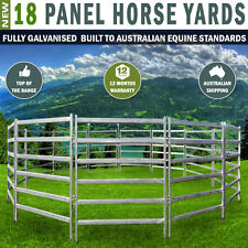 18 Panel Horse Yards Inc Gate, Round Yard, Cattle Fences, Corral,12.5M Diameter