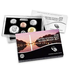 In Stock !!! 2018-S SILVER Proof Set With Box and C.O.A. / Same Day Shipping