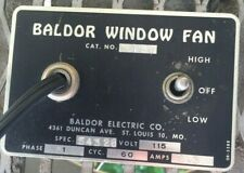 "VINTAGE  BALDOR 16"" WINDOW FAN Made in St. Louis, MO Excellent Condition"