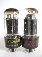 2 matched 1958 Sylvania 6BL7GTA tubes - Black Plates, 3 Mica, Top [ ] Getter