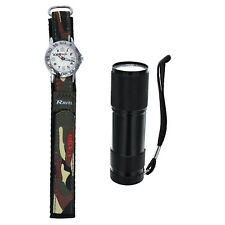 Ravel Camouflage Army Watch & Micro Torch Boys xmas Gift Set R4403