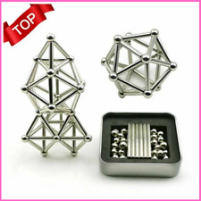 Educational Magnetic Steel Sticks 63 Metal Building Blocks DIY Construction Game