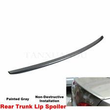 Fit For VW Jetta MK6 2011-18 Sedan Rear Trunk Lip Spoiler Wing Painted Dark Gray