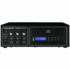MONACOR PA-802CD AMPLIFICATORE MIXER PA MONO 15W 100V USB E LETTORE CD INTEGRATO