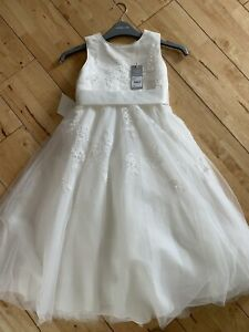 Debenhams John Rocha Ivory Flower Girl Dress Age 6