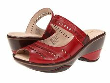 New Women Red Jambu Touring Too Wedge  Heel Peep Toe Sandal Shoe Size 11