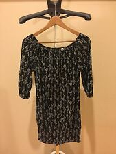 Urban Outfitters LUX Half Sleeve Dress Black Pattern Size Small