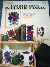 Leisure Arts Pansies in Bloom in Plastic Canvas by Kathleen Hurley Leaflet 1119