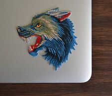 Gucci Style Angry Wolf Iron On Applique/Embroidered Patch Fabric Craft Sew Lot
