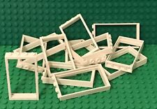 Lego X14 Pieces New White Frame 1x4x6 For Door / Window / Wall Bulk Parts Lot