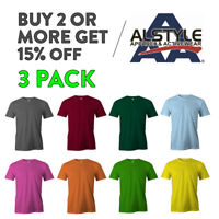 3 PACK AAA ALSTYLE 1301 MENS CAUSL T SHIRT PLAIN SHORT SLEEVE SHIRTS COTTON TEE