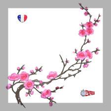 ÉCUSSON PATCH BRODE thermocollant - fleur de cerisier rose 38 X 12 cm