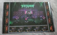 Testament 1990 Alex Skolnick Brockum LIVE Concert Music Poster #P7105 VG.