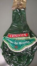 NOS Leroux Creme de Menthe Fine Liqueurs hanging Blow Up  Inflatable bottle