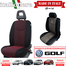 COPPIA COPRISEDILI Specifici Volkswagen GOLF Foderine ANTERIORI GOLF Rosso 09