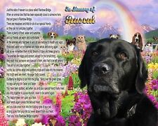 Black Lab Memorial Picture-Rainbow Bridge Poem Personalized with your Pet's Name