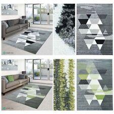 Tapis vert à motif Géométrique pour le salon