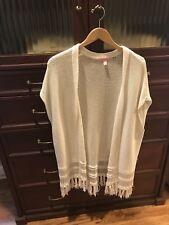 NWOT Lilly Pulitzer Bedford Layering Cardigan/Vest Resort White Size L/XL $128