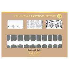 Gloss Gel Nail Strip Manicure 30 Nails Dgnp17 Smoke Ivy Nail Art K-Beauty