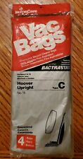 Package of 4 HomeCare Vacuum Vac Bags Bactrastat For Hoover Upright Type C No.18