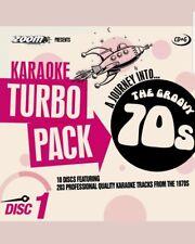 ZOOM KARAOKE CDG     70s  HITS TURBO PACK  203 TOP TRACKS ON 10 DISCS    NEW