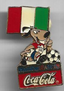 1994 Coca Cola World Cup Soccer Pin Italy Flag USA Coke