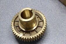 "Brass 5"" Gear 1.75"" Threaded and Keyed 1.5"" Shaft 35519-1R 01033-05"