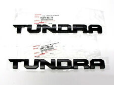 2x OEM 14inch Black Tundra  2013-2017 TRD PRO Nameplate Door Emblem Badge L