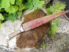 Ancien couteau marquer Ours... et étui en cuir style indien rapporté