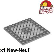 Lego Technik Technic Basic 1 Platte mit Gitter hellgrau 8x8 #4151