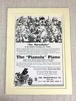 1915 Antico Stampa Vecchia Pubblicità Orchestrelle Company Pianola Marsigliese