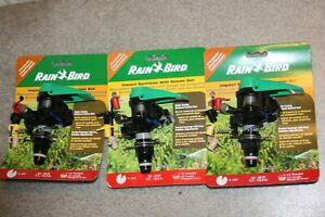 3X Rain Bird P5-R PLUS Plastic Impact Sprinkler with Nozzle Set (Lot of 3)