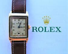 Rolex ♛ 2536 Art Deco Yellow Gold 9C 375 Antique Elegant Luxury Men's Watch 1930
